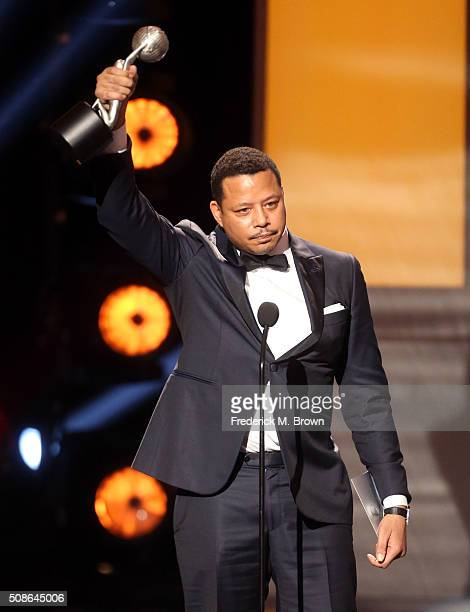Actor Terrence Howard accepts award for Outstanding Actor in a Drama Series for Empire' onstage during the 47th NAACP Image Awards presented by TV...