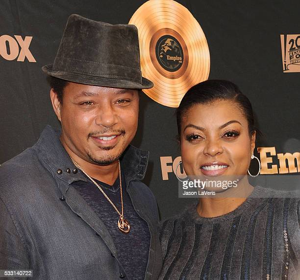 Actor Terrence Howard and actress Taraji P Henson attend the 'Empire' FYC ATAS event at Zanuck Theater on May 20 2016 in Los Angeles California