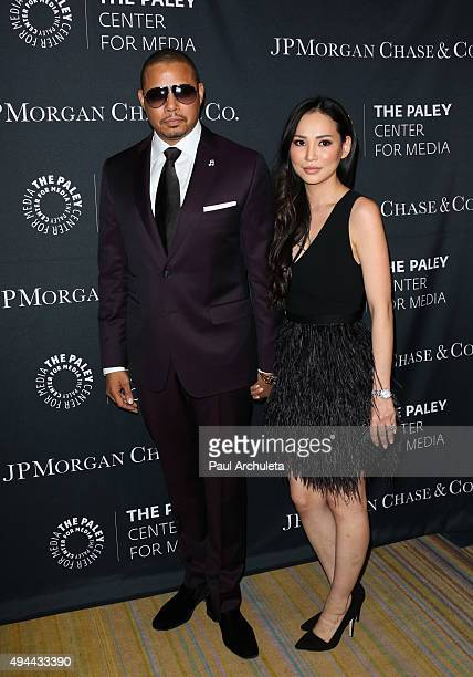 Actor Terrence Howard and his Wife Miranda Howard attend the Paley Center For Media's Tribute To AfricanAmerican Achievements In Television at the...