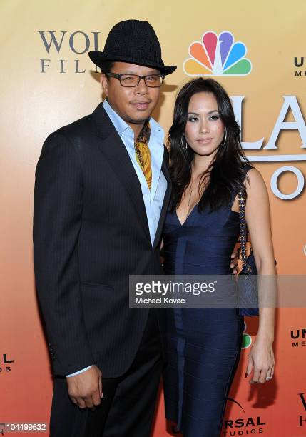 """Actor Terrence Howard and Michelle Ghent arrive at the season premiere party for NBC's """"Law & Order: Los Angeles"""" at Drai's Hollywood on September..."""