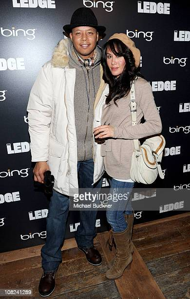 Actor Terrence Howard and Michelle Ghent attend the Bing Bar on January 21 2011 in Park City Utah