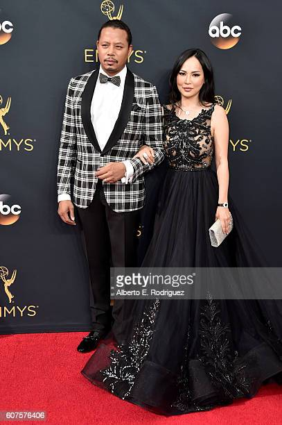 Actor Terrence Howard and Mira Pak attend the 68th Annual Primetime Emmy Awards at Microsoft Theater on September 18 2016 in Los Angeles California