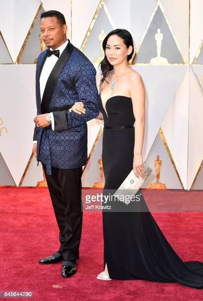 Actor Terrence Howard and Mira Pak attend the 89th Annual Academy Awards at Hollywood Highland Center on February 26 2017 in Hollywood California