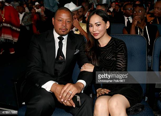 Actor Terrence Howard and Miranda Howard attend the 2015 BET Awards at the Microsoft Theater on June 28 2015 in Los Angeles California