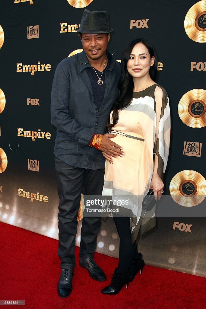 Actor Terrence Howard and Miranda Pak attend the 'Empire' FYC ATAS Event held at Zanuck Theater at 20th Century Fox Lot on May 20, 2016 in Los Angeles, California.