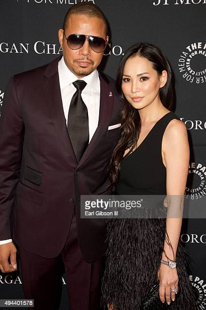 Actor Terrence Howard and wife Miranda Howard attend The Paley Center For Media's Tribute To African-American Achievements In Television at the...