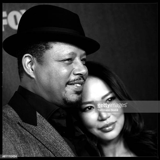 Actor Terrence Howard and wife Miranda Howard attend the red carpet premiere of 'Empire' held at ArcLight Cinemas Cinerama Dome on January 6 2015 in...