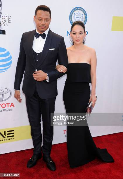 Actor Terrence Howard and wife Miranda Pak arrive at the 48th NAACP Image Awards at Pasadena Civic Auditorium on February 11 2017 in Pasadena...