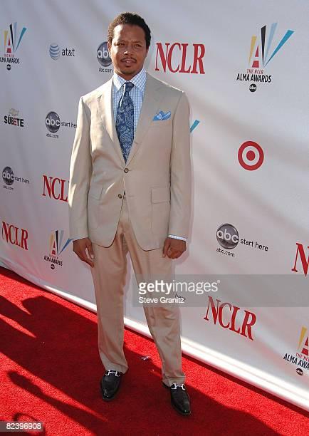 Actor Terrence Howard arrives at the 2008 ALMA Awards at the Pasadena Civic Auditorium on August 17 2008 in Pasadena California