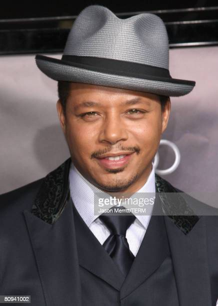 Actor Terrence Howard arrives at the premiere of Paramount's 'Iron Man' held at Grauman's Chinese Theatre on May 30 2008 in Hollywood California