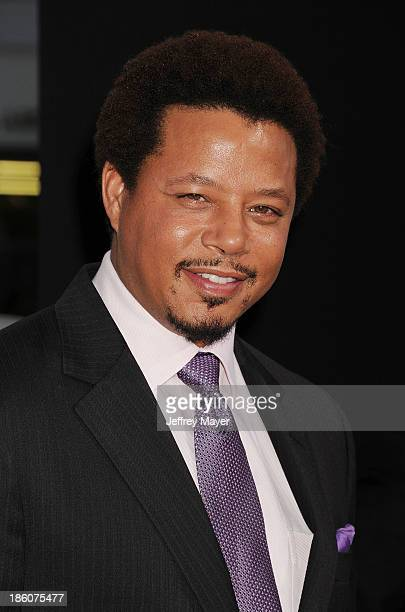 Actor Terrence Howard arrives at the 'Prisoners' Los Angeles Premiere at the Academy of Motion Picture Arts and Sciences on September 12 2013 in...
