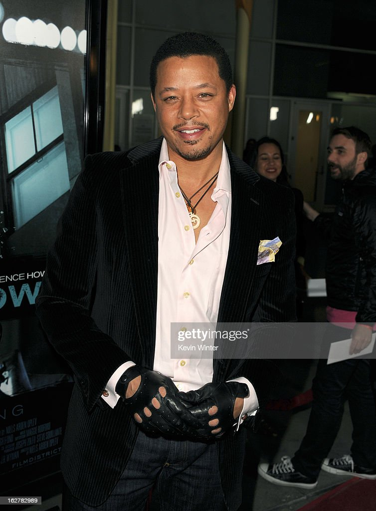 Actor Terrence Howard arrives to the premiere of FilmDistricts's 'Dead Man Down' at ArcLight Hollywood on February 26, 2013 in Hollywood, California.