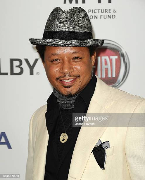 Actor Terrence Howard attends Hugh Jackman's 'One Night Only' benefitting the MPTF at Dolby Theatre on October 12 2013 in Hollywood California