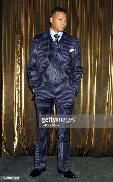Actor Terrence Howard attends the 14th Annual Screen Actors Guild Awards Nominations at the Pacific Design Center's SilverScreen Theater on December...