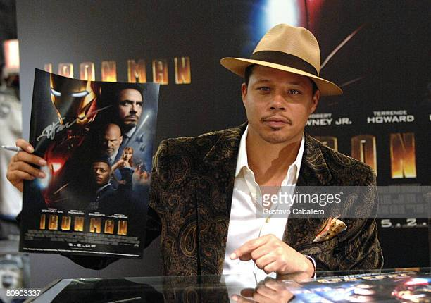 "Actor Terrence Howard attends the ""Iron Man"" celebration at Macy's April 28, 2008 in New York City."
