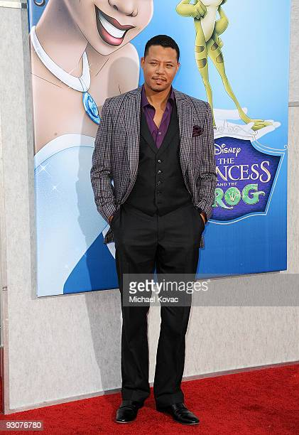 Actor Terrence Howard attends the premiere of ''The Princess And The Frog'' at Walt Disney Studios on November 15 2009 in Burbank California