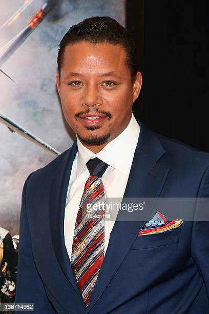 """Actor Terrence Howard attends the """"Red Tails"""" premiere at the Ziegfeld Theater on January 10, 2012 in New York City."""