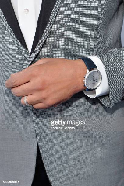 Actor Terrence Howard fashion detail with Piaget at the 2017 Film Independent Spirit Awards at Santa Monica Pier on February 25 2017 in Santa Monica...