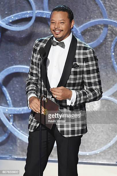 Actor Terrence Howard speaks onstage during the 68th Annual Primetime Emmy Awards at Microsoft Theater on September 18 2016 in Los Angeles California