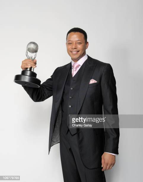 Actor Terrence Howard, winner of the award for Outstanding Supporting Actor in a Drama Series for 'Law & Order: Los Angeles,' poses for a portrait at...