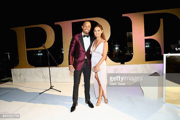 Actor Terrence J and tv personality Rocsi Diaz attend Debra Lee's PRE kicking off the 2016 BET Awards on June 22 2016 in Los Angeles California