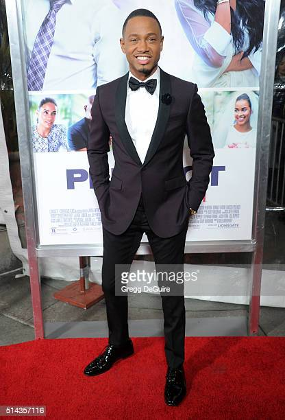 Actor Terrence J arrives at the premiere of Lionsgate's 'The Perfect Match' at ArcLight Hollywood on March 7 2016 in Hollywood California