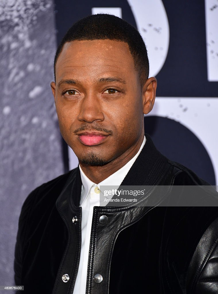 Actor Terrence J. arrives at the world premiere of Universal Pictures and Legendary Pictures' 'Straight Outta Compton' at the Microsoft Theate on August 10, 2015 in Los Angeles, California.