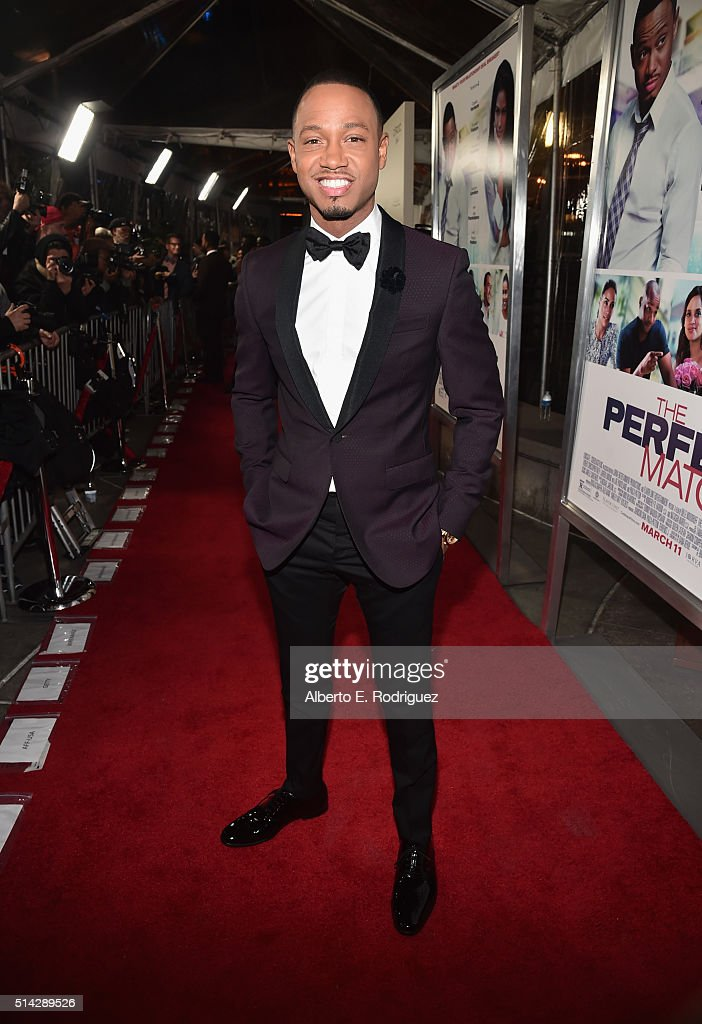 Actor Terrence Jenkins attends the premiere of Lionsgate's 'The Perfect Match' at ArcLight Hollywood on March 7, 2016 in Hollywood, California.