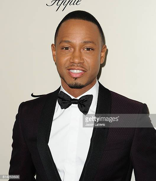 Actor Terrence Jenkins attends the premiere of 'The Perfect Match' at ArcLight Hollywood on March 7 2016 in Hollywood California