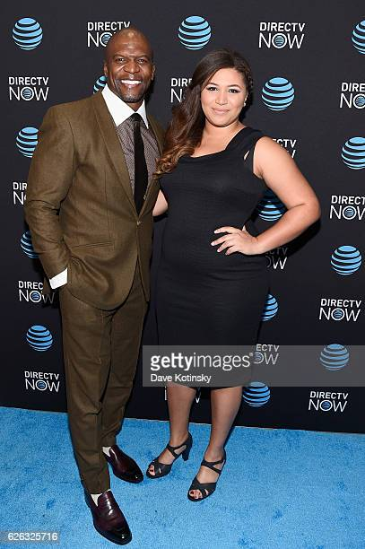 Actor Terry Crews and Azriel Crews attend ATT's celebration of the Launch of DIRECTV NOW at Venue 57 on November 28 2016 in New York City