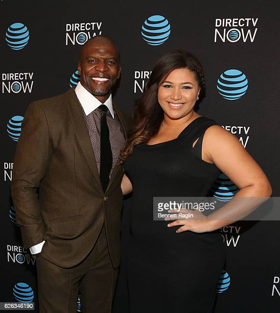 Actor Terry Crews and daugther Azriel Crews attend the DirectTV Now launch at Venue 57 on November 28 2016 in New York City