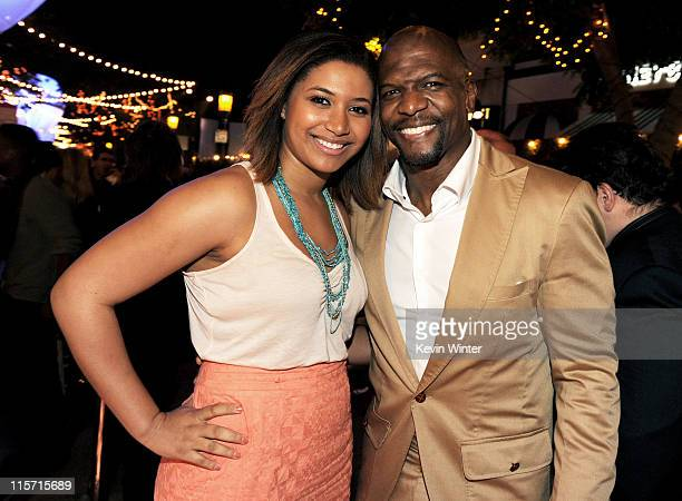 Actor Terry Crews and his daughter Azriel Crews pose at the after party for the premiere of Paramount Pictures' Super 8 at the Village Theater on...