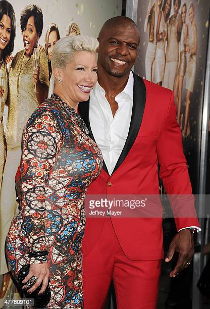 Actor Terry Crews and his wife Rebecca KingCrews at the Los Angeles premiere of Tyler Perry's 'The Single Moms Club' at the ArcLight Cinemas Cinerama...