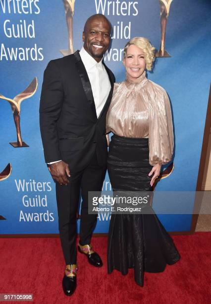 Actor Terry Crews and Rebecca KingCrews attend the 2018 Writers Guild Awards LA Ceremony at The Beverly Hilton Hotel on February 11 2018 in Beverly...
