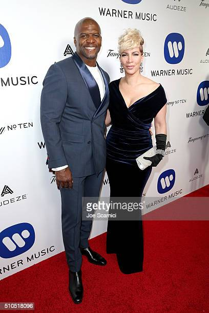 Actor Terry Crews and Rebecca KingCrews attend Warner Music Group's annual Grammy celebration at Milk Studios Los Angeles on February 15 2016 in Los...