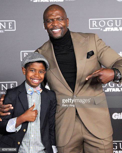 Actor Terry Crews and son Isaiah Crews attend the premiere of Walt Disney Pictures and Lucasfilms' 'Rogue One A Star Wars Story' at the Pantages...