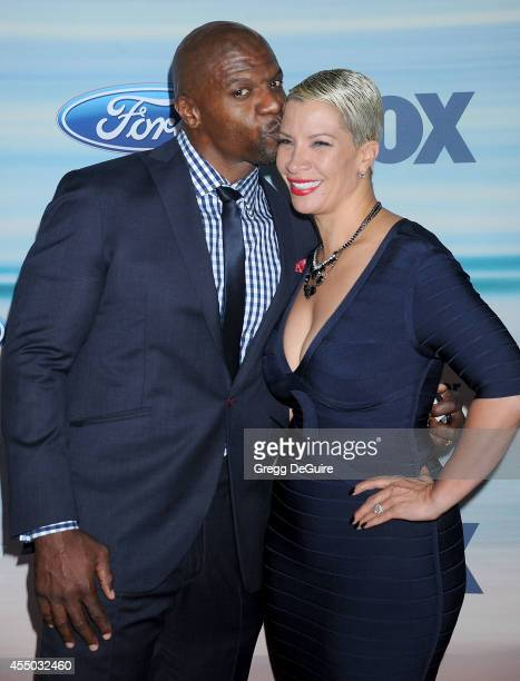 Actor Terry Crews and wife Rebecca King Crew arrive at the 2014 FOX Fall EcoCasino Party at The Bungalow on September 8 2014 in Santa Monica...