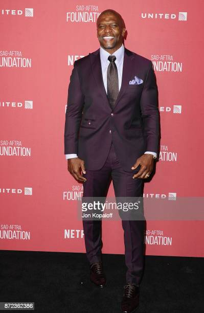Actor Terry Crews arrives at SAGAFTRA Foundation Patron of the Artists Awards 2017 on November 9 2017 in Beverly Hills California