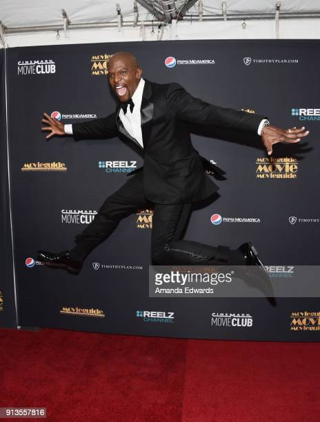 Actor Terry Crews arrives at the 26th Annual Movieguide Awards Faith And Family Gala at the Universal Hilton Hotel on February 2 2018 in Universal...