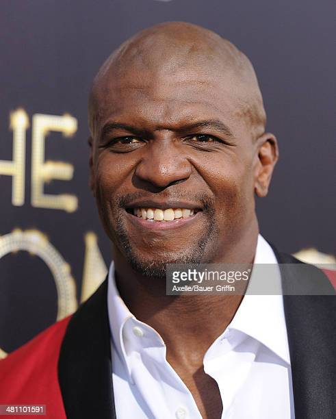 Actor Terry Crews arrives at the Los Angeles premiere of 'Tyler Perry's The Single Moms Club' at ArcLight Cinemas Cinerama Dome on March 10 2014 in...