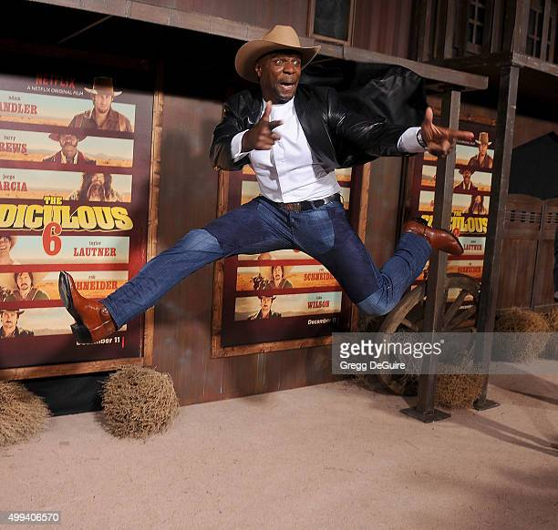 Actor Terry Crews arrives at the premiere of Netflix's 'The Ridiculous 6' at AMC Universal City Walk on November 30 2015 in Universal City California