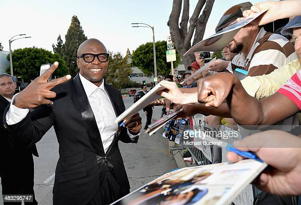 """Actor Terry Crews attends Premiere Of Summit Entertainment's """"Draft Day"""" at Regency Bruin Theatre on April 7, 2014 in Los Angeles, California."""