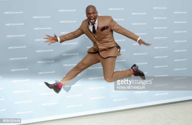 TOPSHOT Actor Terry Crews attends the Unequaled NBCUniversal Upfront campaign at Radio City Music Hall on May 14 2018 in New York