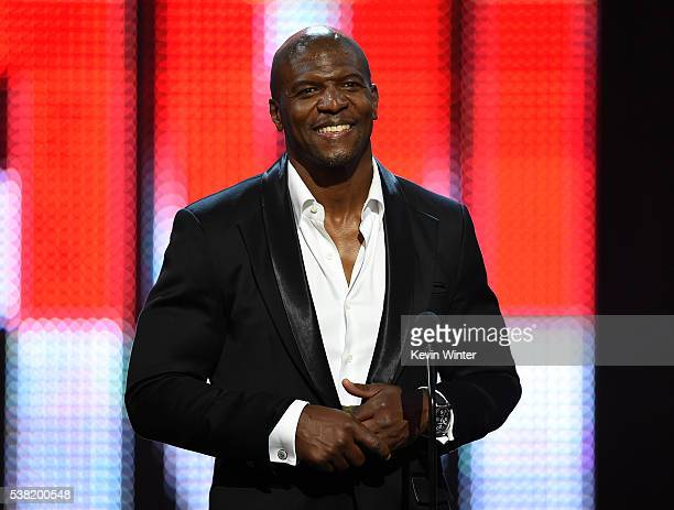 Actor Terry Crews speaks onstage during Spike TV's 10th Annual Guys Choice Awards at Sony Pictures Studios on June 4 2016 in Culver City California