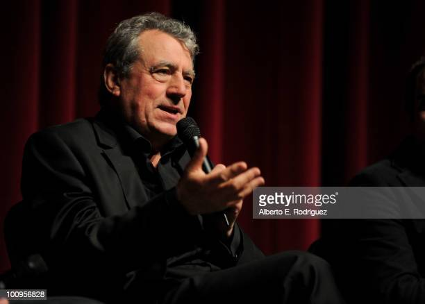 Actor Terry Jones participates in a Q A following IFC's special screening of Monty Python Almost the Truth on May 25 2010 in North Hollywood...