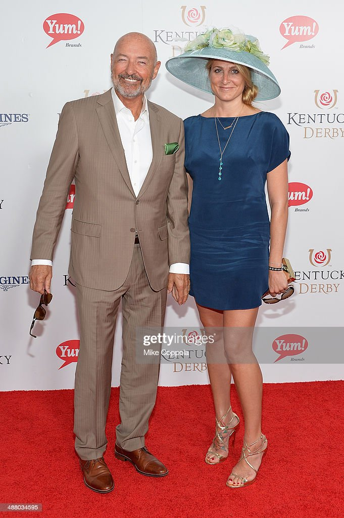 Actor Terry O'Quinn (L) and guest attend 140th Kentucky Derby at Churchill Downs on May 3, 2014 in Louisville, Kentucky.