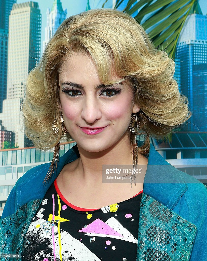 Actor Tessa Alves Sargent of Rock of Ages attend the Norwegian Warming Station launch in Times Square on January 28, 2013 in New York City.