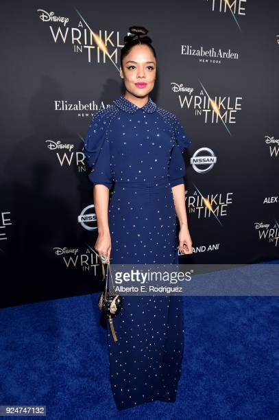 Actor Tessa Thompson arrives at the world premiere of Disney's 'A Wrinkle in Time' at the El Capitan Theatre in Hollywood CA Feburary 26 2018