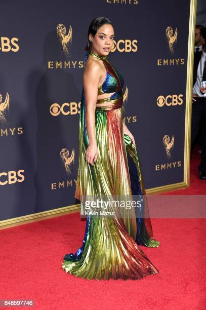 Actor Tessa Thompson attends the 69th Annual Primetime Emmy Awards at Microsoft Theater on September 17 2017 in Los Angeles California