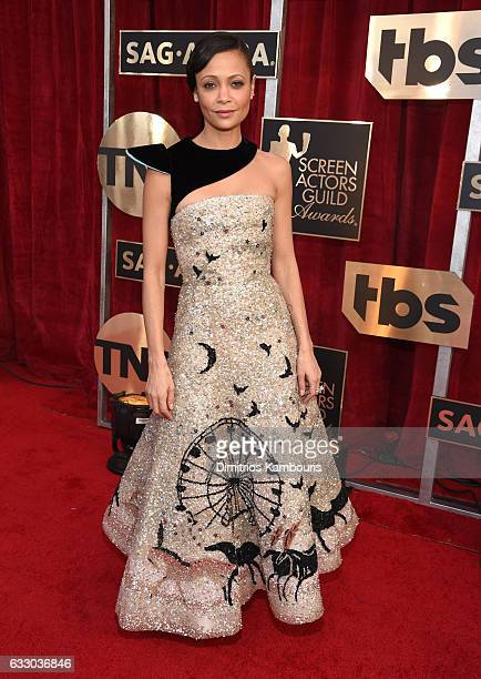 Actor Thandie Newton attends The 23rd Annual Screen Actors Guild Awards at The Shrine Auditorium on January 29 2017 in Los Angeles California...